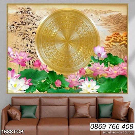 Tranh dán tường-tranh hoa sen6