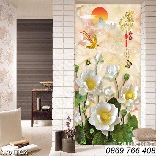 Tranh dán tường-tranh hoa sen4