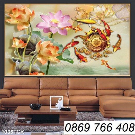 Tranh dán tường-tranh hoa sen1