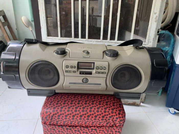 Đài RADIO CD&CASSEETE VICTOR RV-X70 ( trống cơm )0