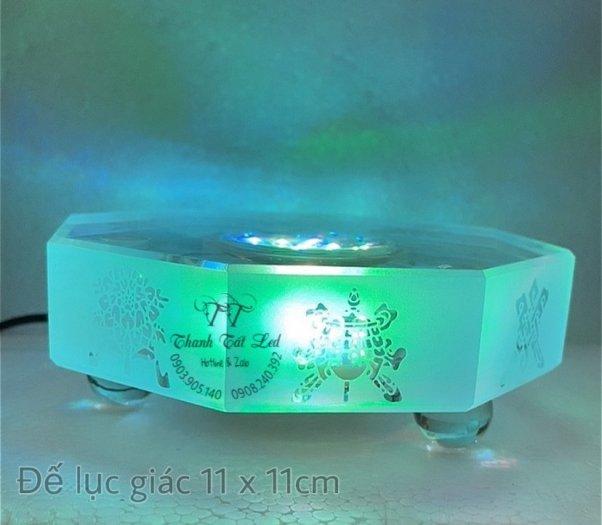Đế Đèn Led Pha Lê,  Thủy Tinh Điện Đẹp USB 7003 ✨8