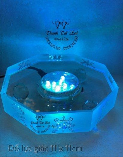Đế Đèn Led Pha Lê,  Thủy Tinh Điện Đẹp USB 7003 ✨7