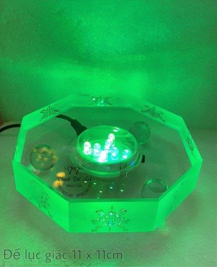 Đế Đèn Led Pha Lê,  Thủy Tinh Điện Đẹp USB 7003 ✨6