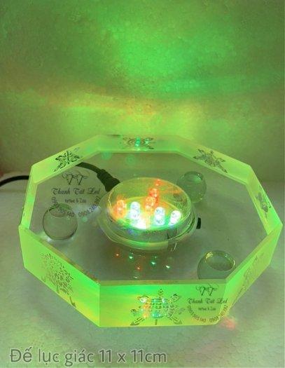 Đế Đèn Led Pha Lê,  Thủy Tinh Điện Đẹp USB 7003 ✨5
