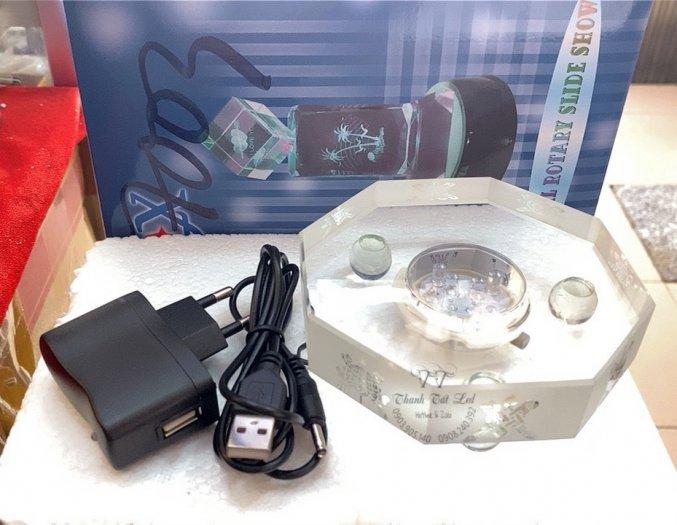 Đế Đèn Led Pha Lê,  Thủy Tinh Điện Đẹp USB 7003 ✨1