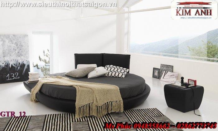 Giường tròn hiện đại, sang trọng cho phòng ngủ tại Bình Dương1
