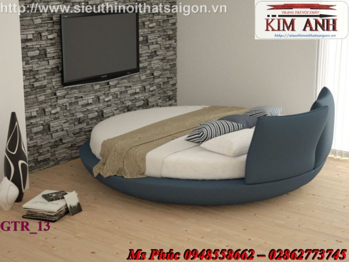 Giường tròn hiện đại, sang trọng cho phòng ngủ tại Bình Dương0