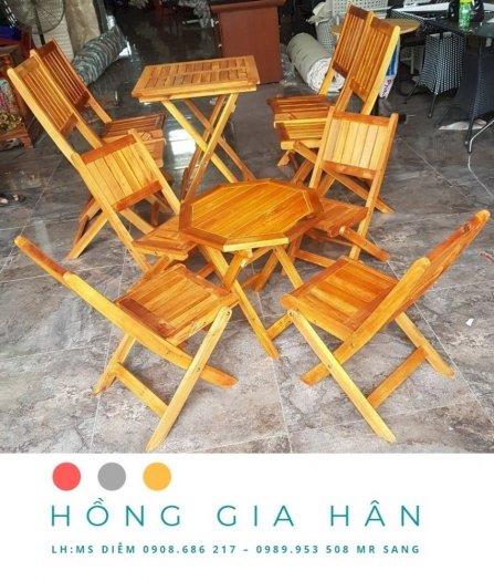 Bàn Ghế Cafe Hồng Gia Hân Bgg03 _ 1 Bàn 4 Ghế1