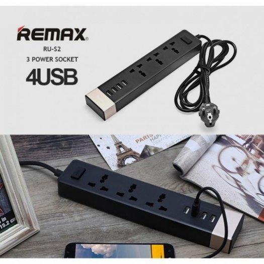 Ổ Cắm Điện Remax RU-S2 Kiêm 4 cổng USB sạc điện thoại các loại9