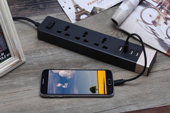 Ổ Cắm Điện Remax RU-S2 Kiêm 4 cổng USB sạc điện thoại các loại5