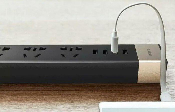Ổ Cắm Điện Remax RU-S2 Kiêm 4 cổng USB sạc điện thoại các loại1