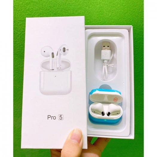 Tai nghe Bluetooth 5.0 TWS Airpods Pro 5 đổi tên,cảm biến lực dừng nhạc6