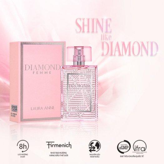 Nước hoa nữ Laura Anne Diamond Femme - Pink 45ml2