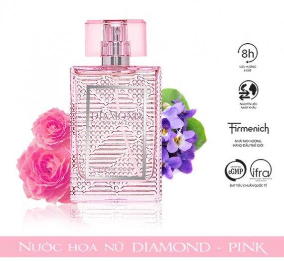 Nước hoa nữ Laura Anne Diamond Femme - Pink 45ml0