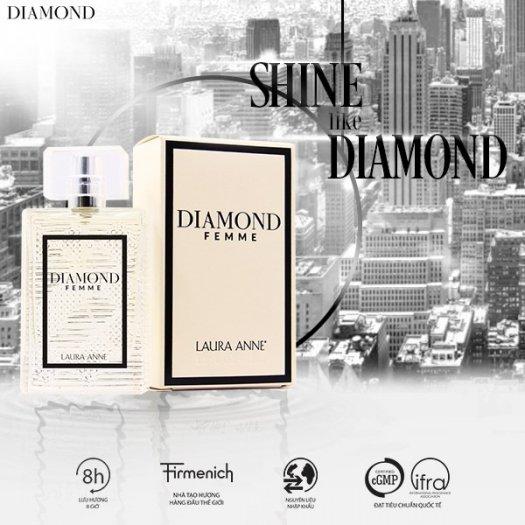 Nước hoa nữ Laura Anne Diamond Femme - White 45ml1