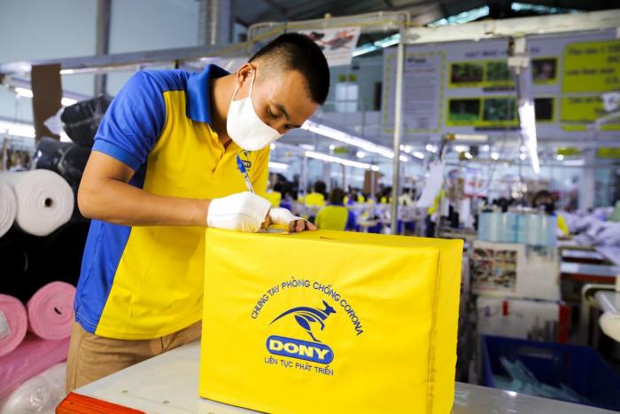 Xưởng sản xuất khẩu trang kháng khuẩn DONY MASK 0988 325 7675