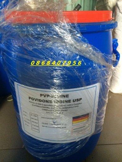 Hoá chất diệt khuẩn PVP Iodine Amphray Ấn Độ dùng trong nuôi trồng thủy sản0