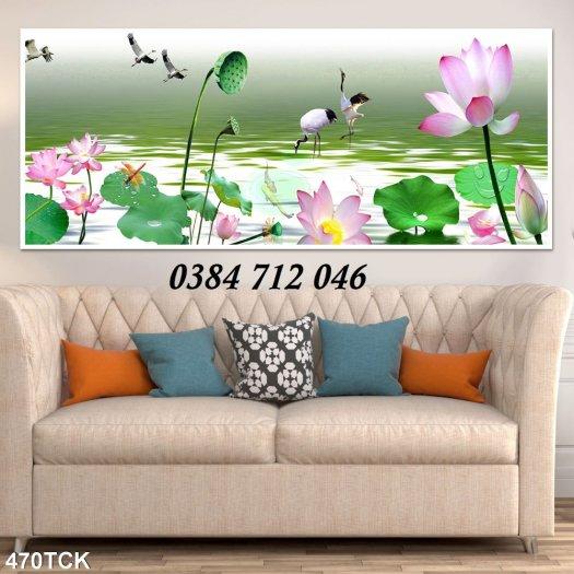 Tranh gạch men trang trí tường, tranh hoa sen treo phòng3