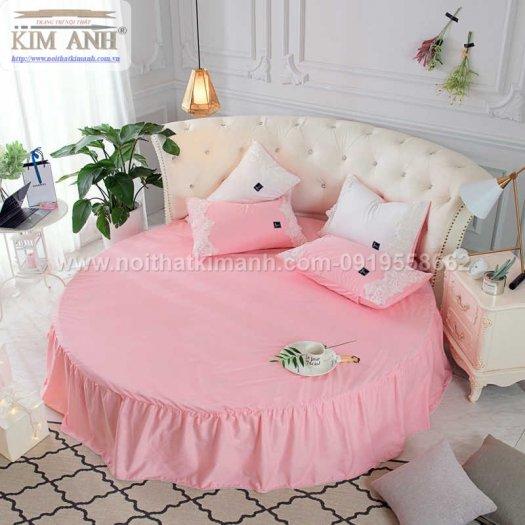 Giường tròn công chúa màu hồng cho các bé gái2