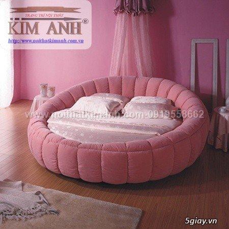 Giường tròn công chúa màu hồng cho các bé gái0