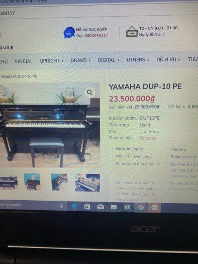 Piano bán cơ Yamaha DUP 10 PE sale kịch sàn1