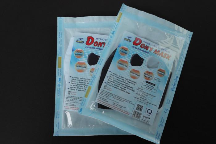 Công ty sản xuất khẩu trang vải kháng khuẩn - may in thêu logo thương hiệu - Dony Mask  - 098832576716
