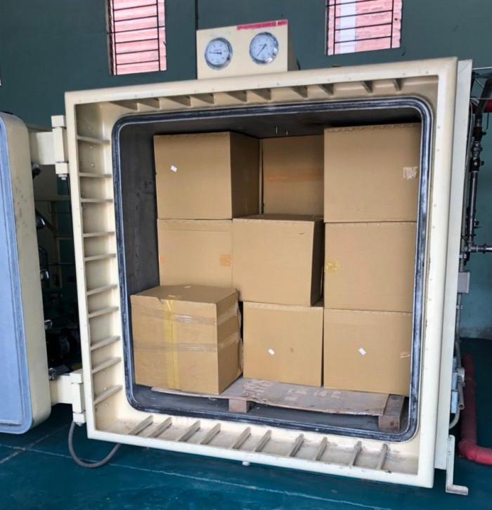 Công ty sản xuất khẩu trang vải kháng khuẩn - may in thêu logo thương hiệu - Dony Mask  - 098832576717