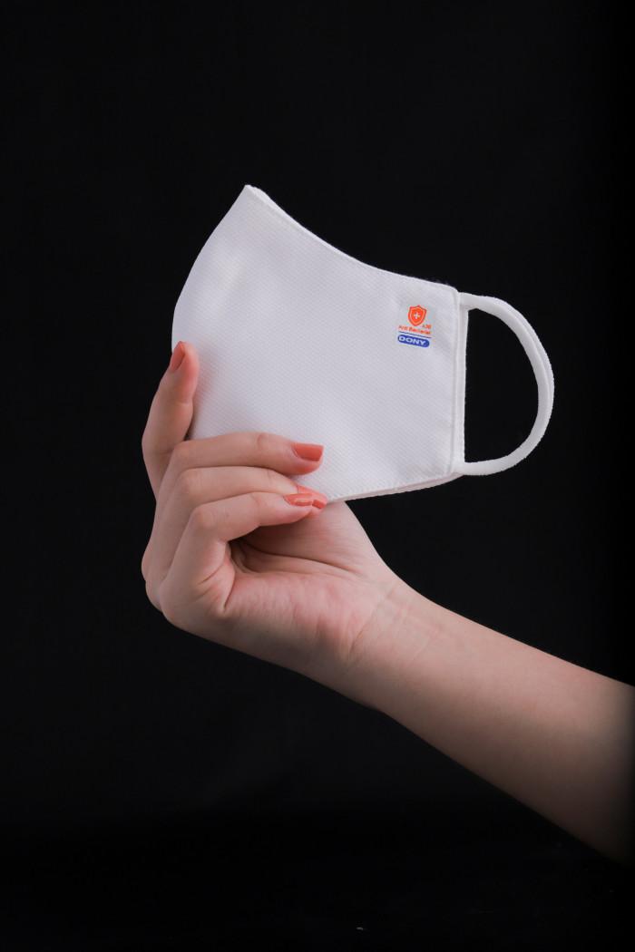Công ty sản xuất khẩu trang vải kháng khuẩn - may in thêu logo thương hiệu - Dony Mask  - 098832576723