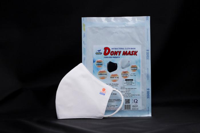 Công ty sản xuất khẩu trang vải kháng khuẩn - may in thêu logo thương hiệu - Dony Mask  - 098832576729