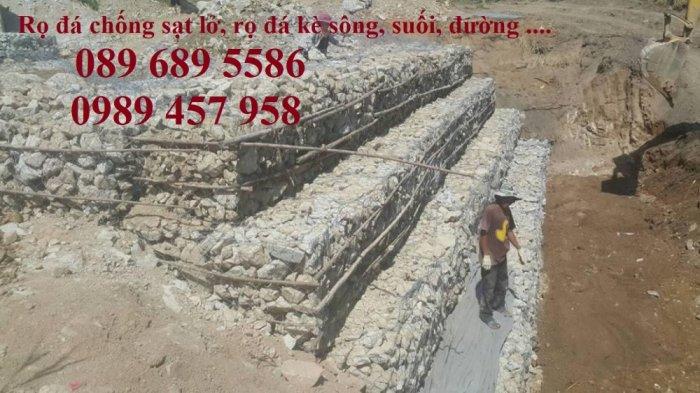 Nhà máy làm rọ đá mạ kẽm 1x1x2m, Rọ đá bọc chống sạt lở 2x1x0,5m9