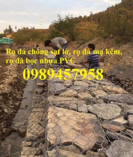 Nhà máy làm rọ đá mạ kẽm 1x1x2m, Rọ đá bọc chống sạt lở 2x1x0,5m6