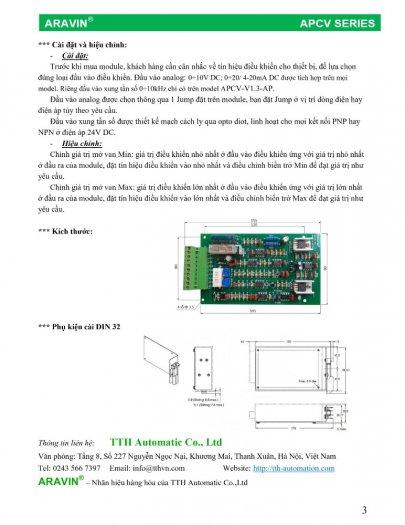 APCV-V1.3-AP - Board mạch điều khiển van tỉ lệ với đầy đủ các tín hiệu điều khiển... do ARAVIN sản xuất5
