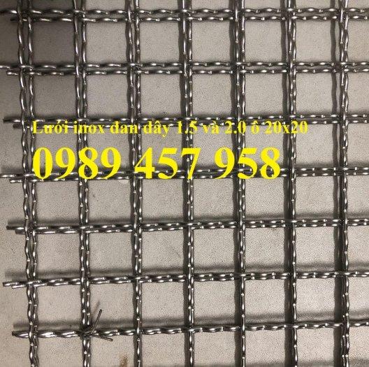 Lưới Inox 304, inox 316, lưới dệt, lưới đan, lưới chống muỗi, lưới chắn chuột4
