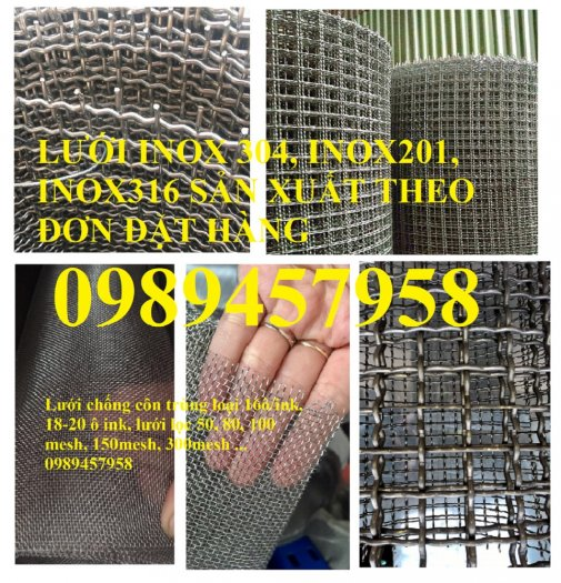 Lưới Inox 304, inox 316, lưới dệt, lưới đan, lưới chống muỗi, lưới chắn chuột0