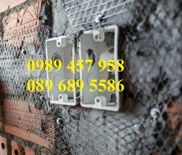 Lưới trát tường, Lưới mạ kẽm trát tường 5x5, 10x10, 15x15, 25x25, Lưới chống nứt tường7