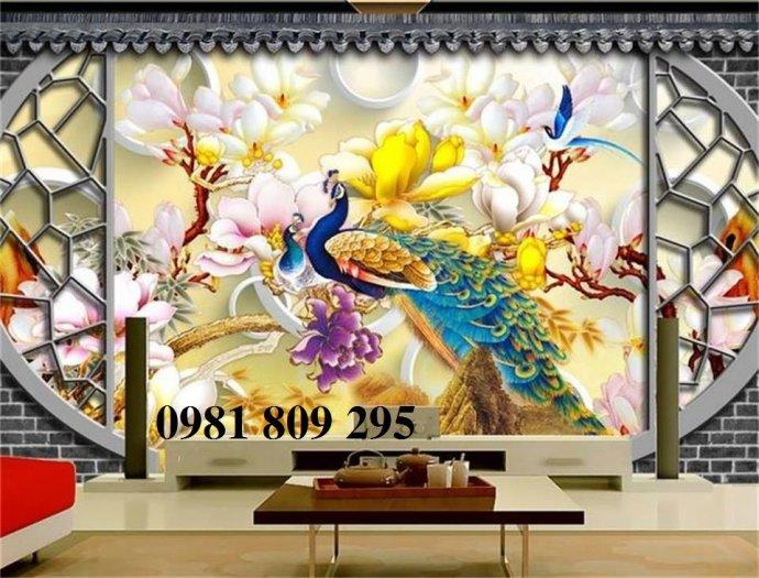 Tranh chim công - gaachj tranh 3d ốp phòng ngủ - tranh giá rẻ2