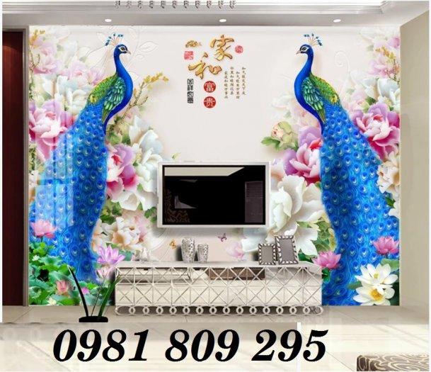 Tranh chim công - gaachj tranh 3d ốp phòng ngủ - tranh giá rẻ1