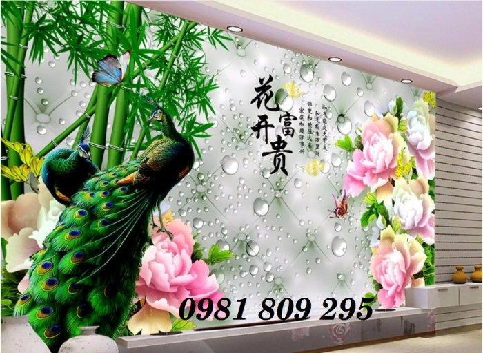 Tranh chim công - gaachj tranh 3d ốp phòng ngủ - tranh giá rẻ0