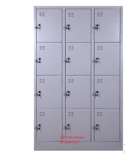 Tủ sắt locker, tủ hồ sơ cánh cửa kính1