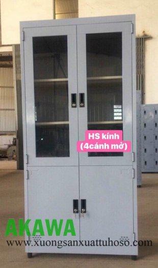 Tủ sắt locker, tủ hồ sơ cánh cửa kính0