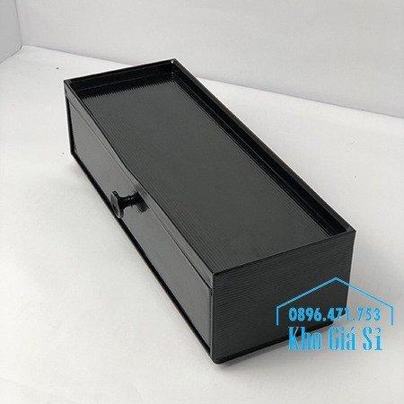 Bán hộp đũa cho nhà hàng quán ăn - Hộp đũa màu đen có nắp cho nhà hàng tại Hà Nội5