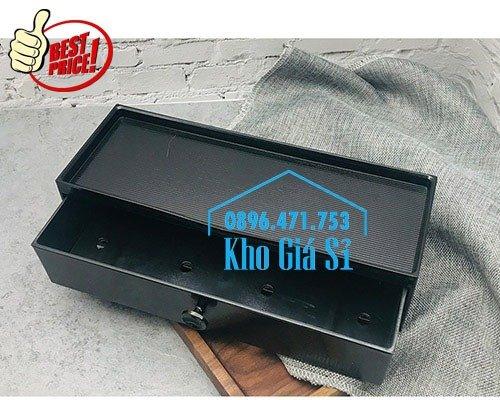 Bán hộp đũa cho nhà hàng quán ăn - Hộp đũa màu đen có nắp cho nhà hàng tại Hà Nội2