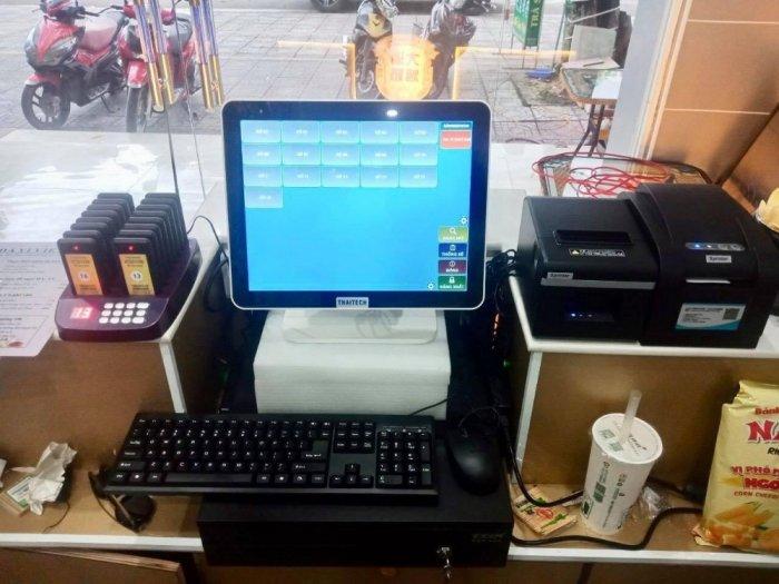 Trọn bộ máy tính tiền cảm ứng cho quán trà sữa tại bắc giang0