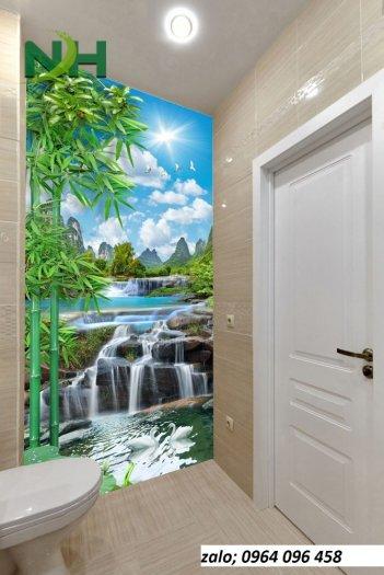 Gạch tranh 3d dán tường phòng tắm - 87QC10