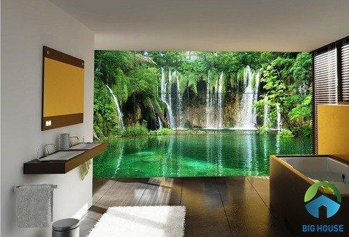 Gạch tranh 3d dán tường phòng tắm - 87QC5