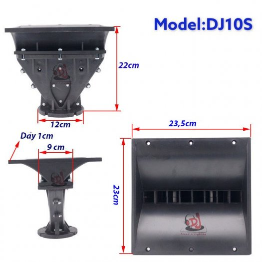 Họng loa array, phểu loa 01 cái họng loa nhựa 23X23, phểu loa trep7