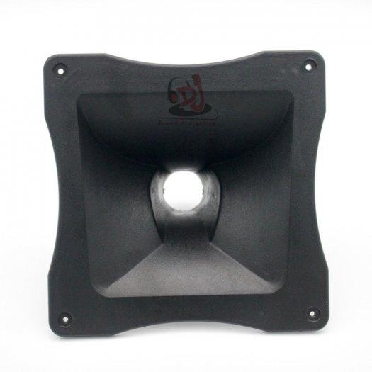 Phểu loa treble kèn, 01 cái họng loa nhựa 12x12, hong loa trep, hong loa treble array, hong loa treo 750, pheu loa nhom2