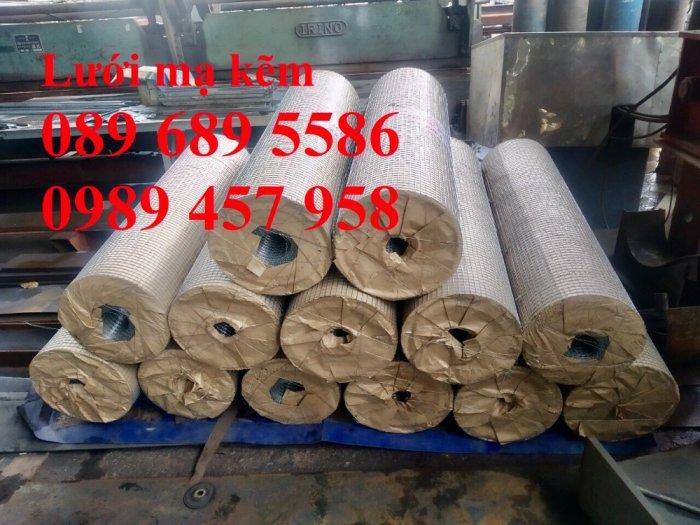 Lưới hàn mạ kẽm nhúng nóng dây 1ly 12x12, 15x15, 20x20, Lưới cuộn 2ly 25x25 và 3ly 50x500, 50x1008