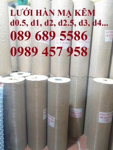 Lưới hàn mạ kẽm nhúng nóng dây 1ly 12x12, 15x15, 20x20, Lưới cuộn 2ly 25x25 và 3ly 50x500, 50x1006