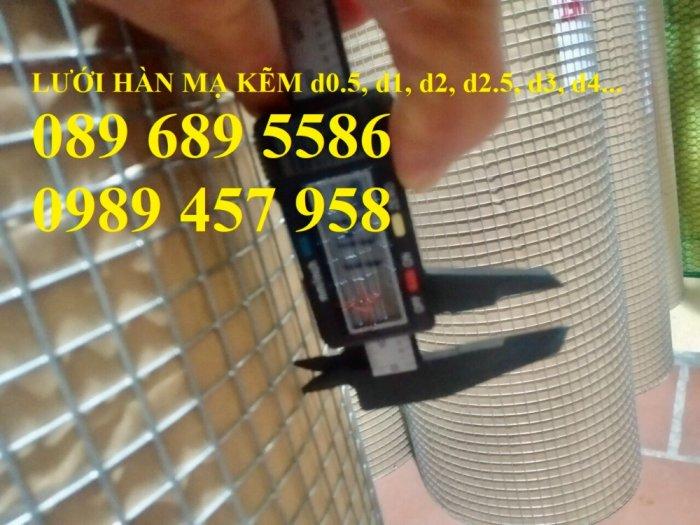 Lưới hàn mạ kẽm nhúng nóng dây 1ly 12x12, 15x15, 20x20, Lưới cuộn 2ly 25x25 và 3ly 50x500, 50x1004